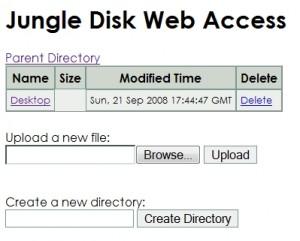 JungleDisk Web Access
