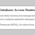 Database Access Denied