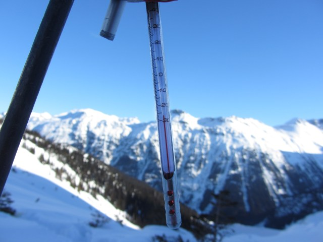 Yes that says -27°C. Any lower and we'd need a bigger thermometer!