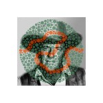 James Arness / Ishihara 38 (Unlettered), pigmented ink on glossy paper with UV laminate, 18 x 18 inches, 2013