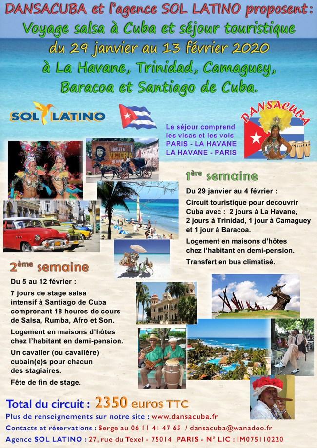 Séjour Dansacuba casa latina 29 janv. 13 fév. 2020