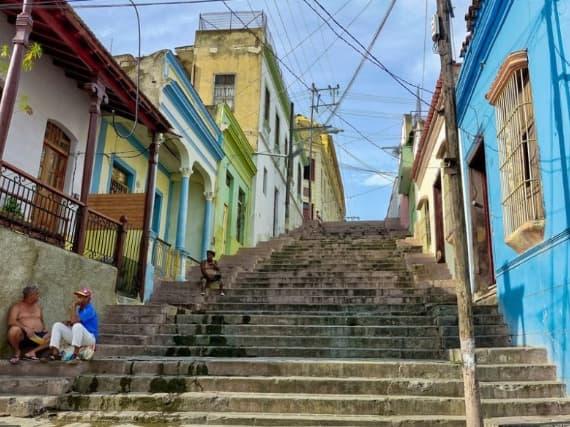Escalier à Santiago-de-Cuba
