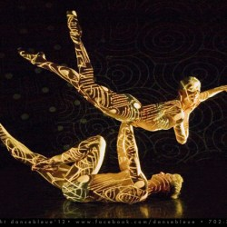 Dancers: Delphine Perroud and Alex Stabler - Photo: Brain Marking - Body Projection Mapping: Paul Ackerman