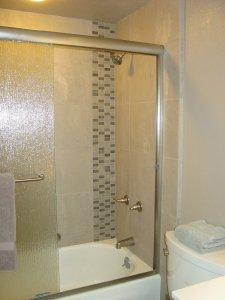 glass shower tub enclosure