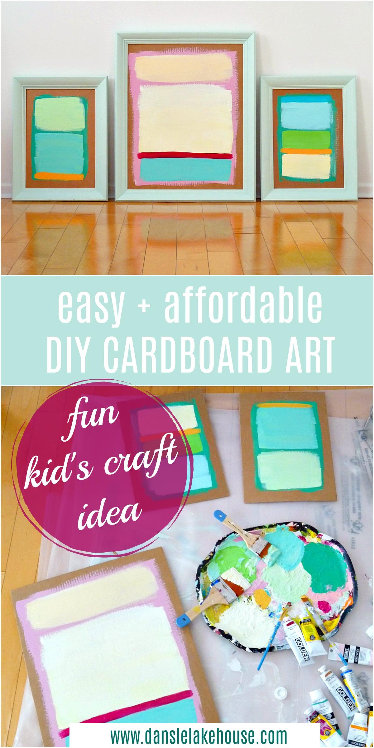 DIY cardboard art project for kids