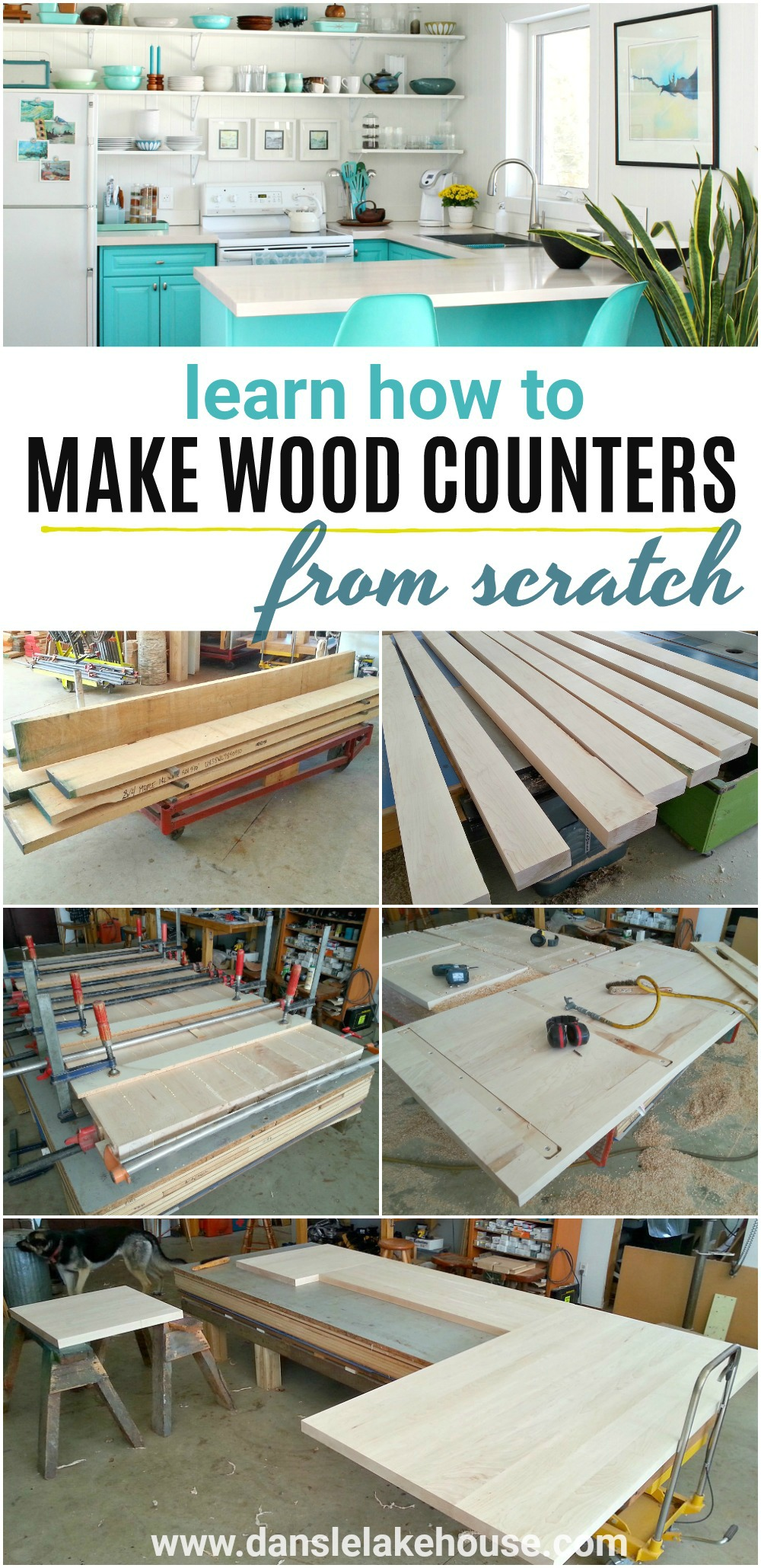 Solid Maple DIY Wood Countertops