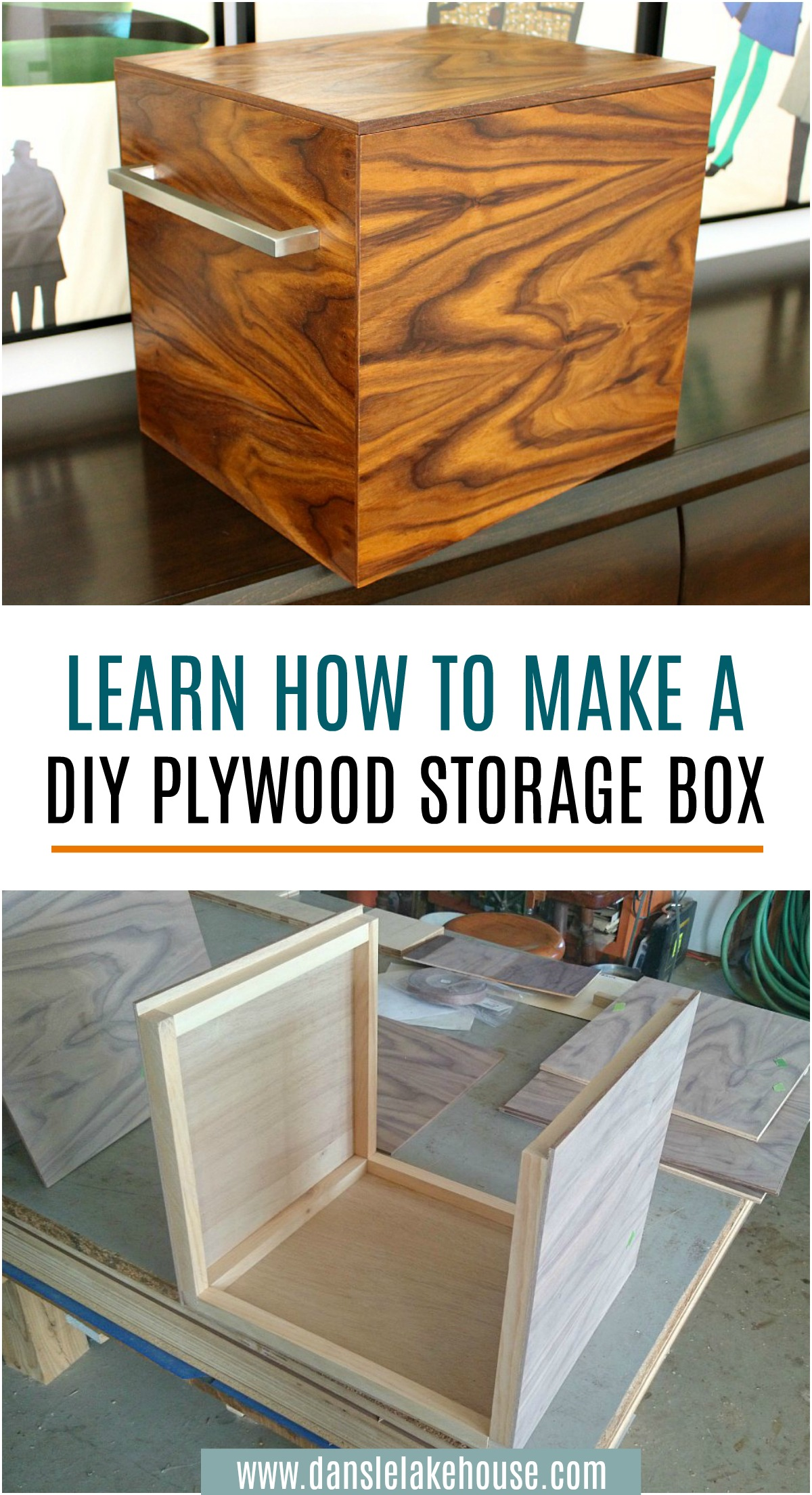 DIY Plywood Storage Bins - Get the Step-by-Step Tutorial with Photos and Supply List! #diy #plywoodprojects #woodworking #organizing #walnutplywood