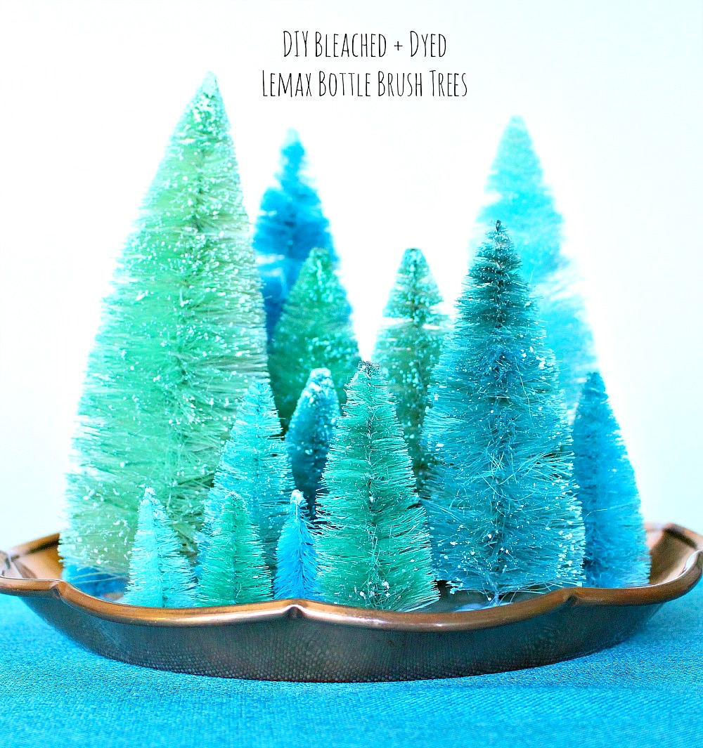 How to Bleach and How to Dye Bottle Brush Trees