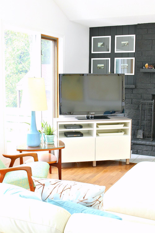 Ikea Besta Hack 2.0 | DIY Besta TV Stand with Wood Top #ikeahack #ikeabesta #savingmoney #furnituremakeover