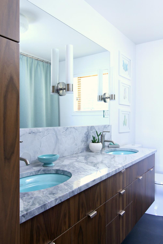 Mid-Century Modern Inspired Bathroom Renovation