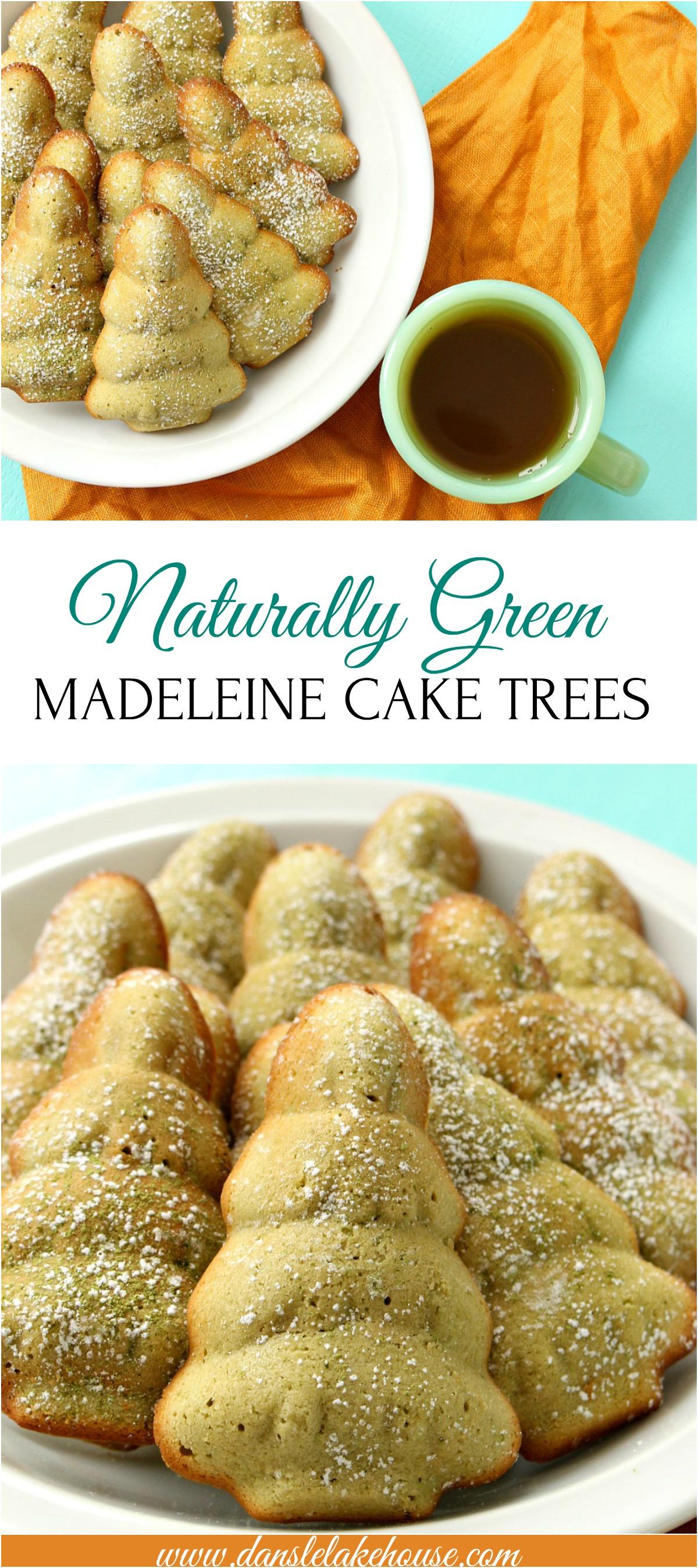 Naturally Green, Tree Shaped Matcha Madeleine Cakes