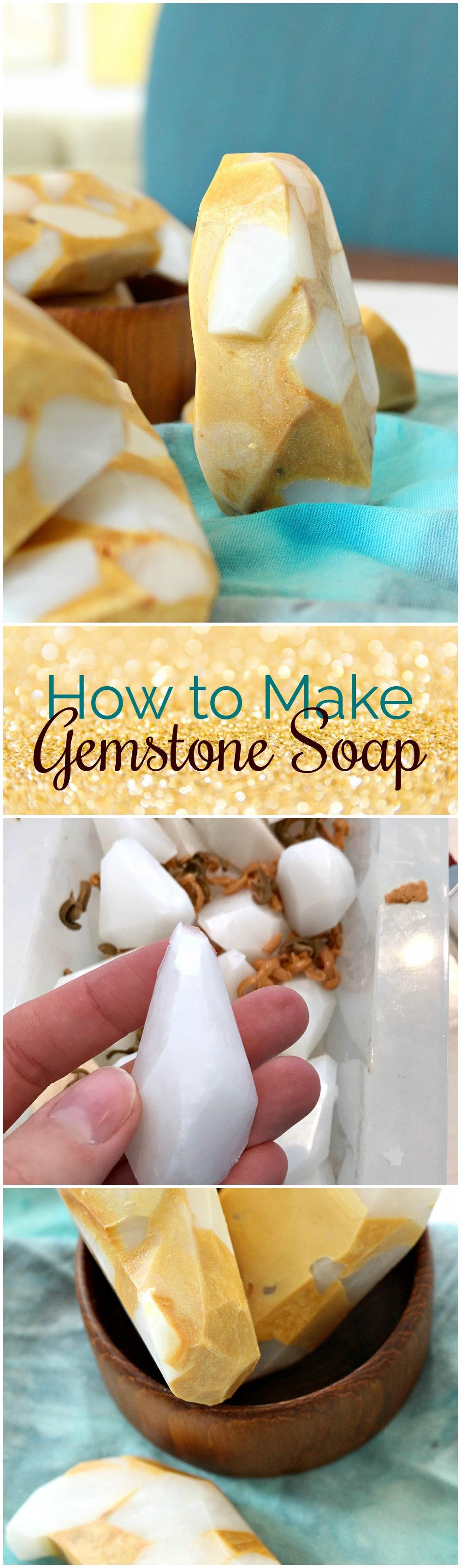 DIY gemstone soap tutorial