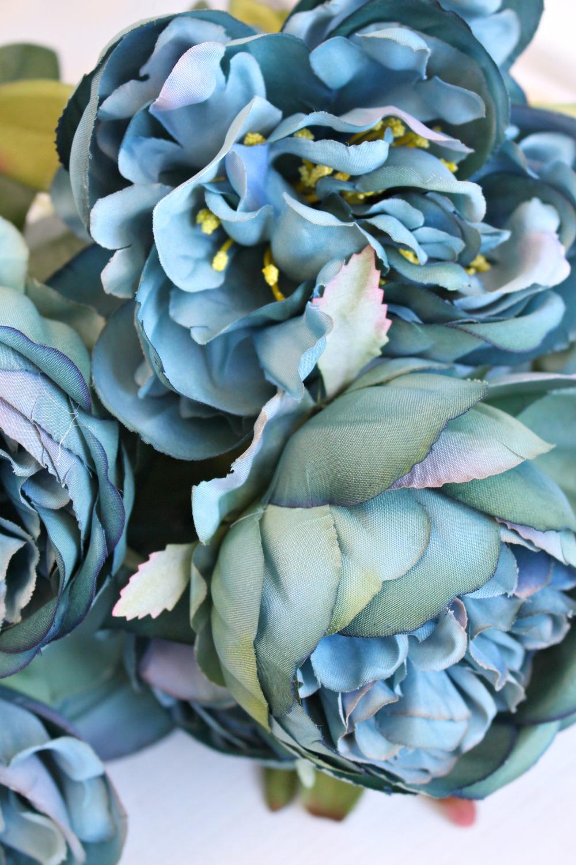 Beautiful Teal Faux Flowers