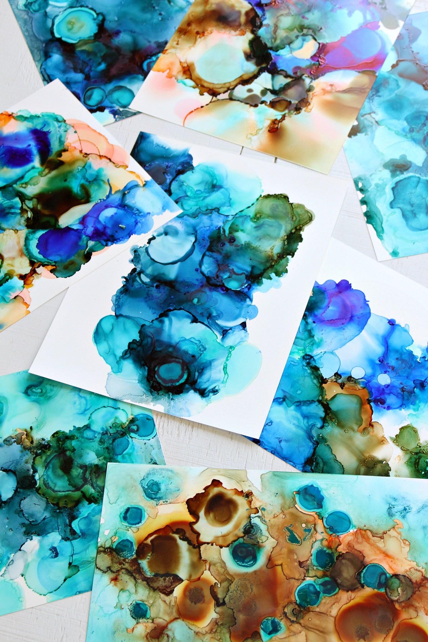 Make Easy Marbled Art