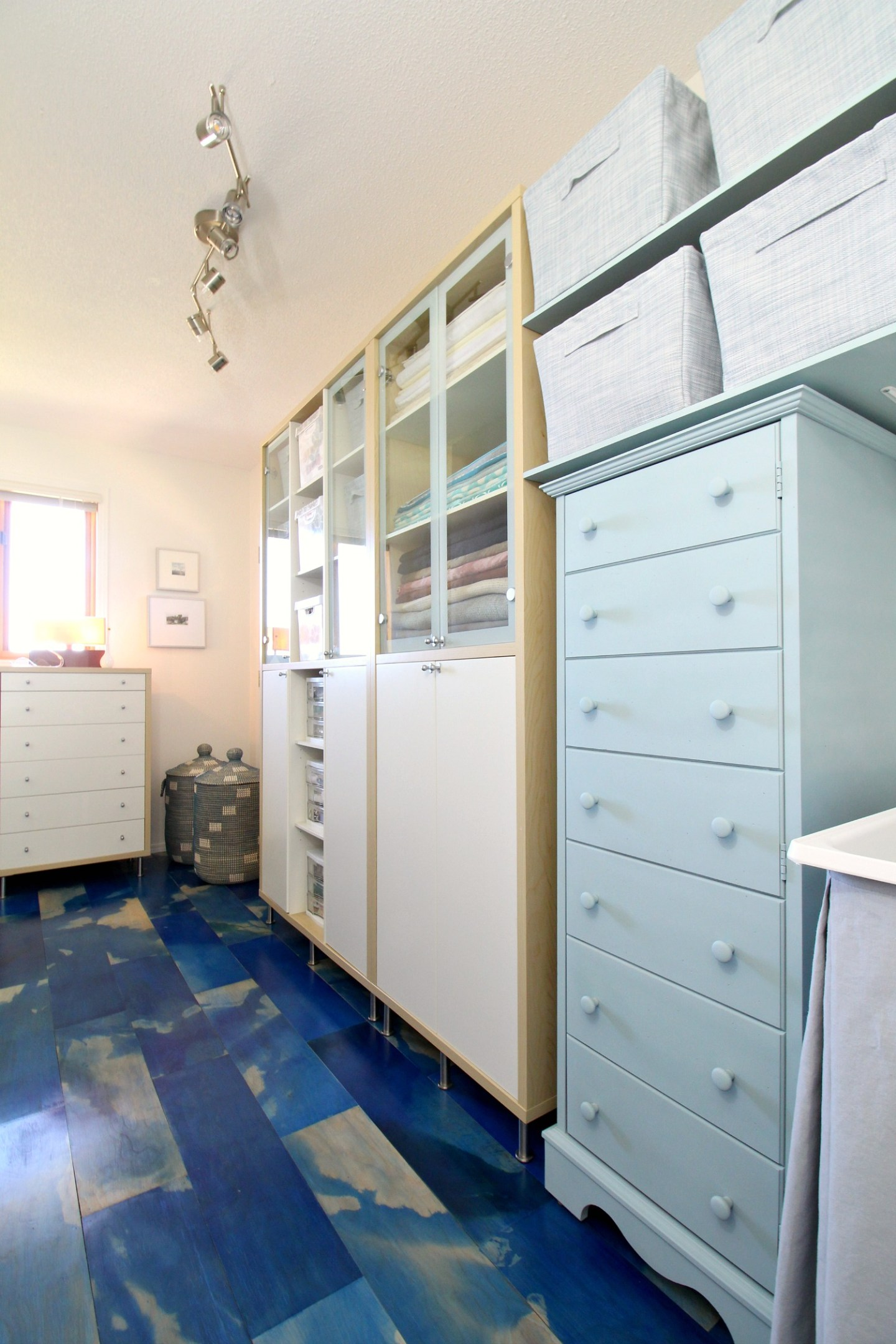 Blue Craftroom Makeover Reveal