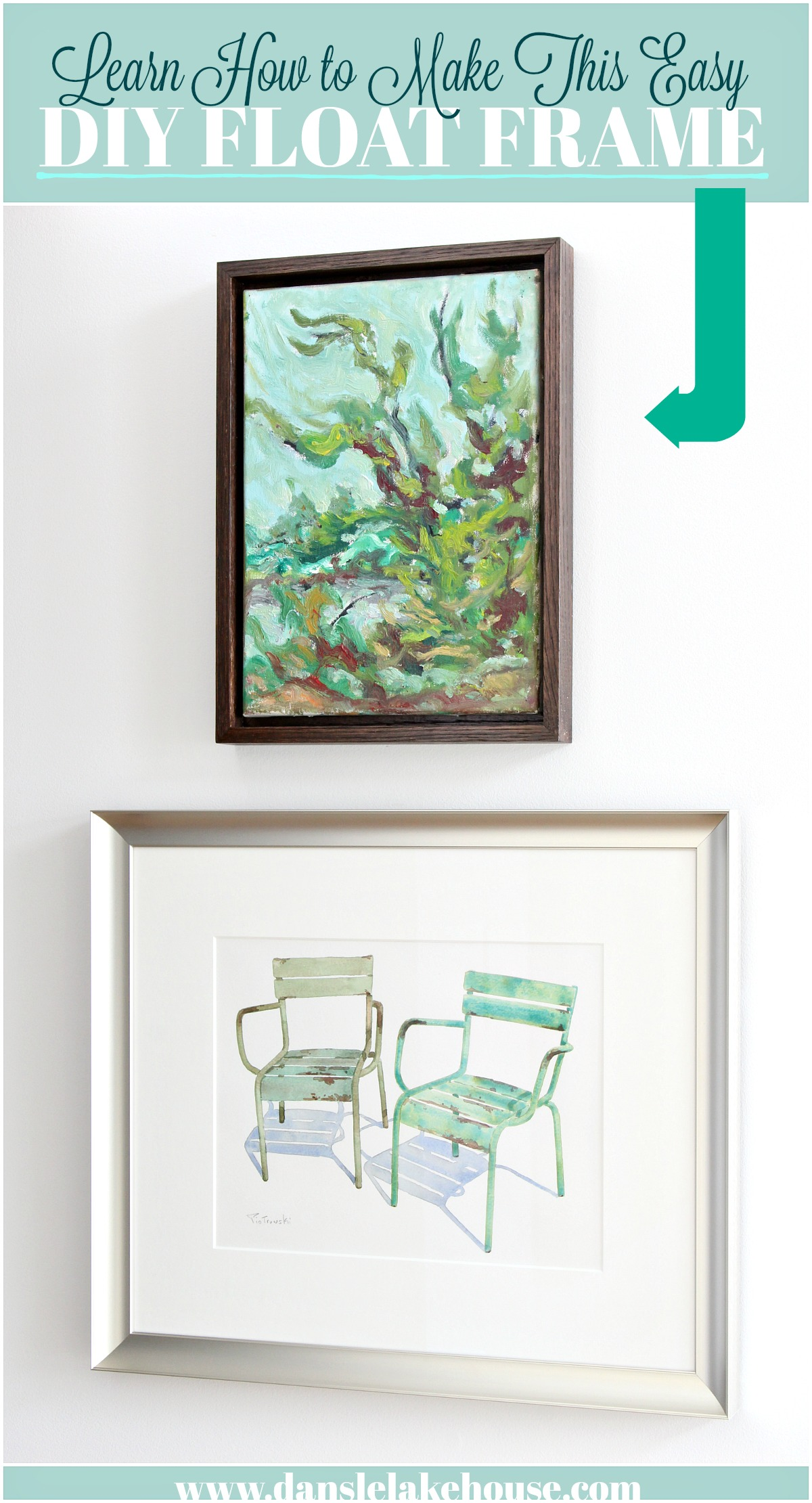 Learn How to Make This Easy DIY Float Frame and Frame Your Art for Less! Easy DIY Floating Frame Project Tutorial