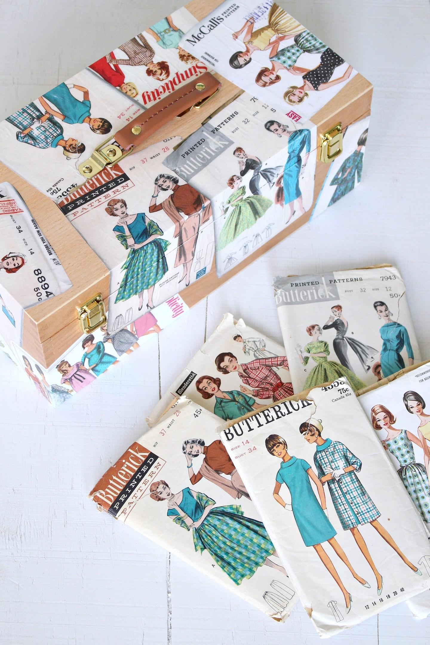 Decoupage Pattern Box | 15 Beautiful Handmade Mother's Day Gift Ideas