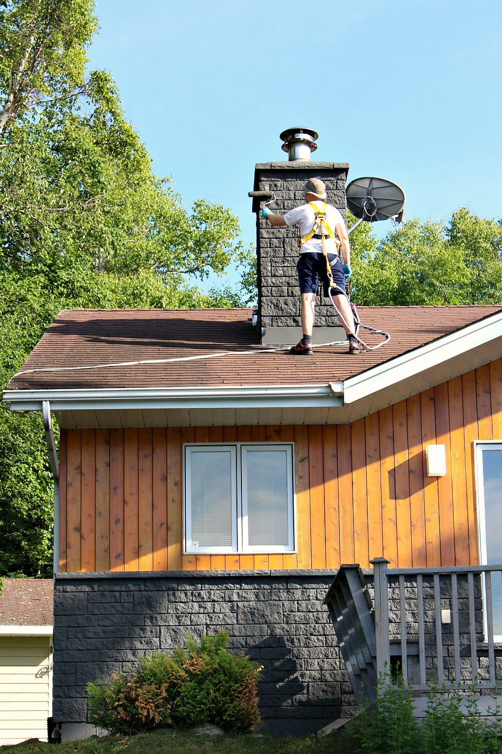 How to Safely Paint a Chimney
