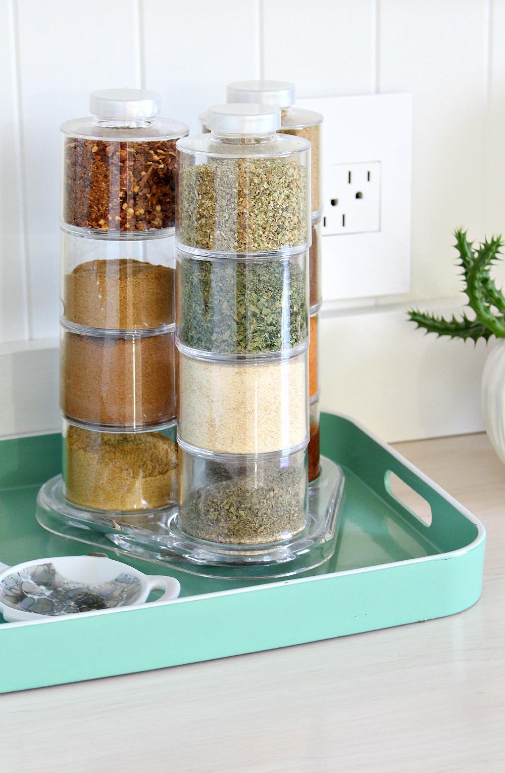 Modern Spice Tower Rack Storage
