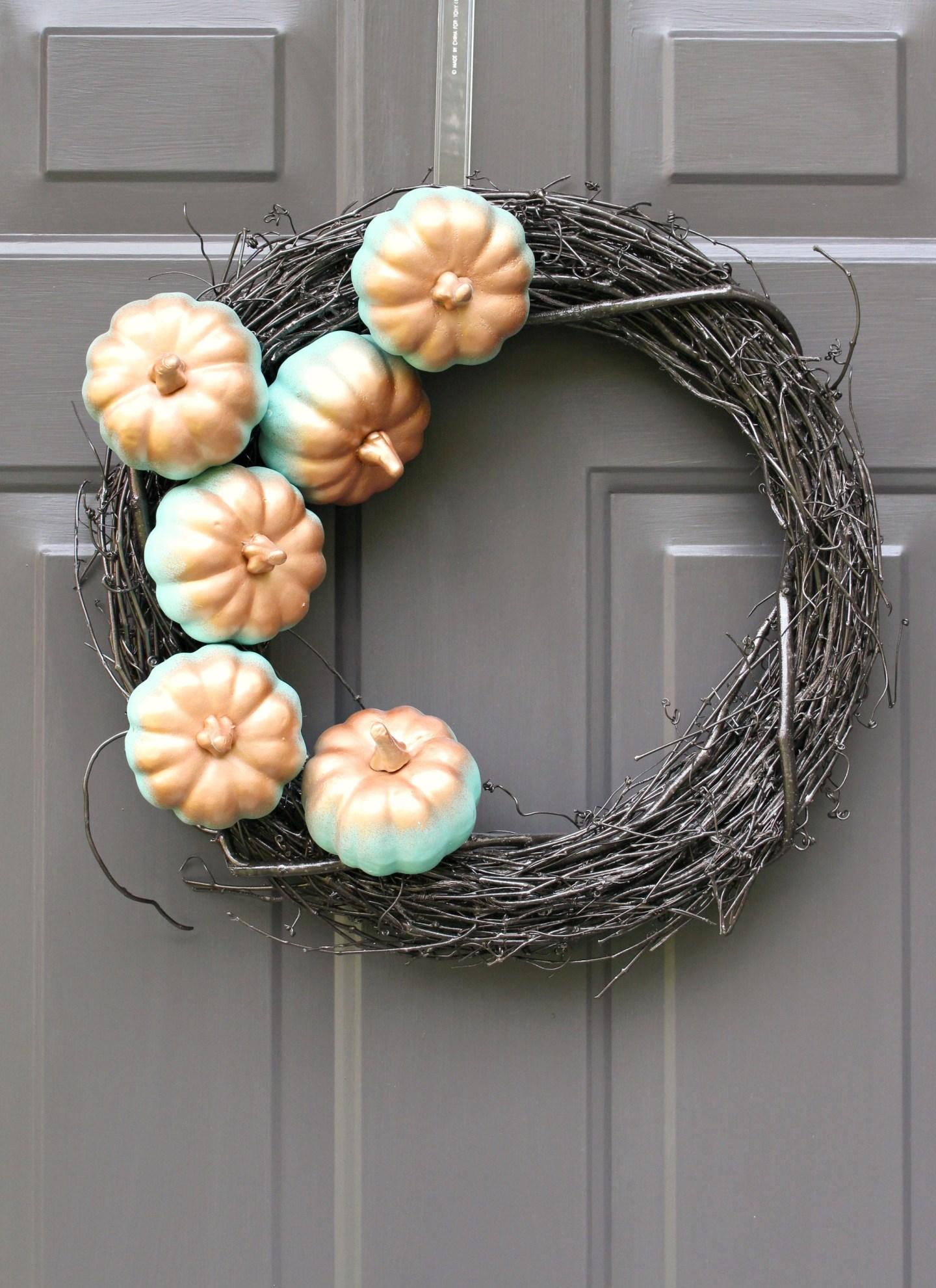 DIY Pumpkin Wreath Project