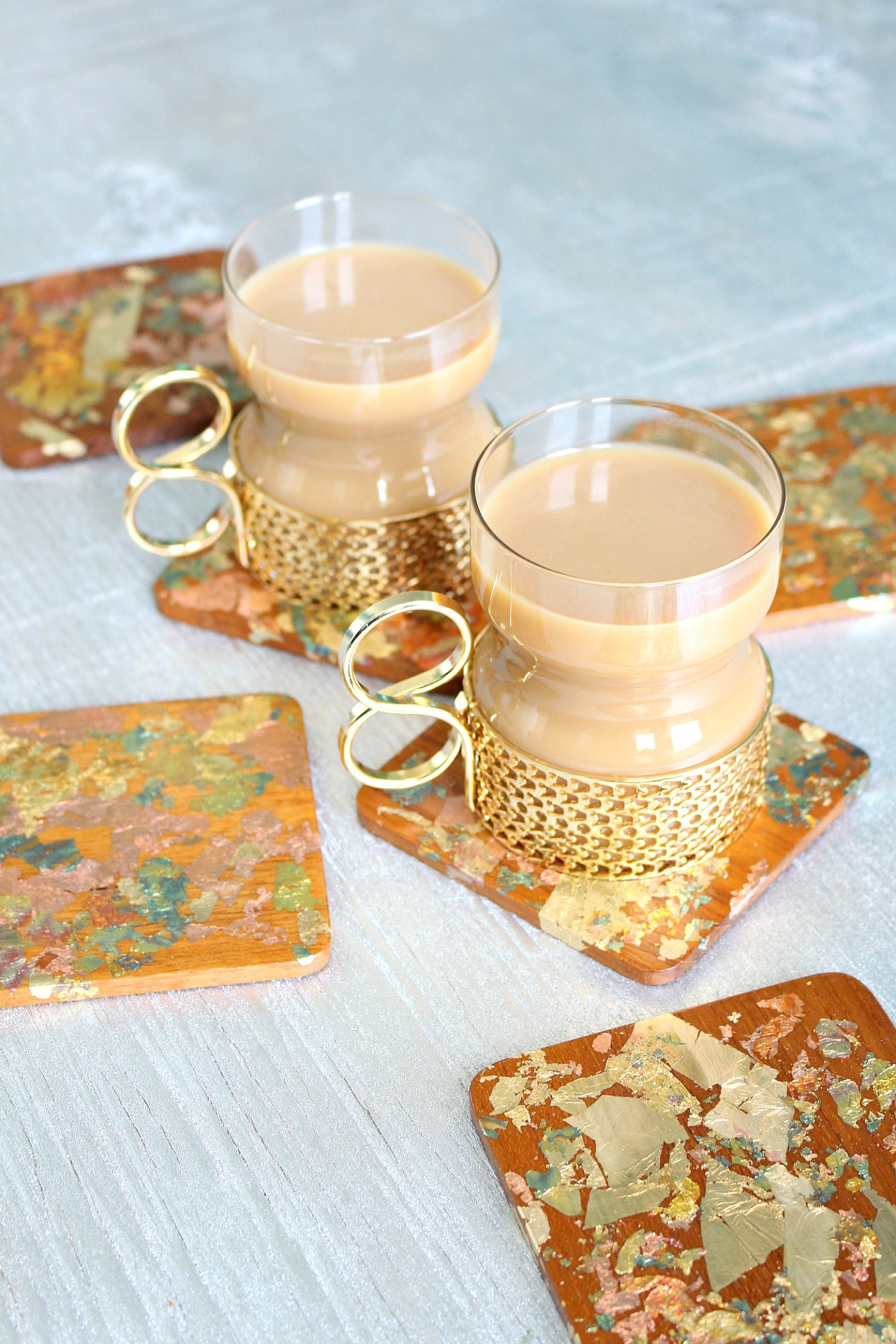 Gold Leaf Project Ideas: DIY Gold Leaf Coasters