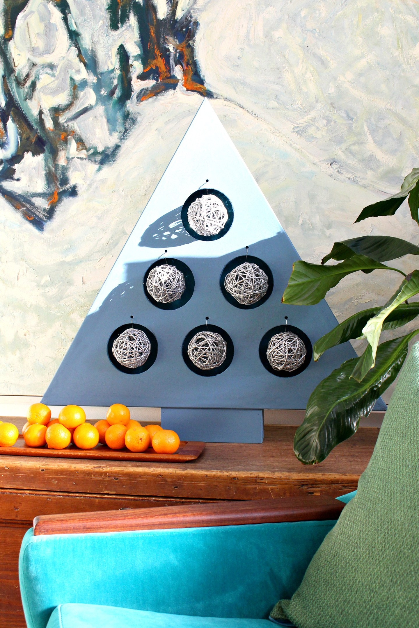 DIY Plywood Ornament Stand with Lights