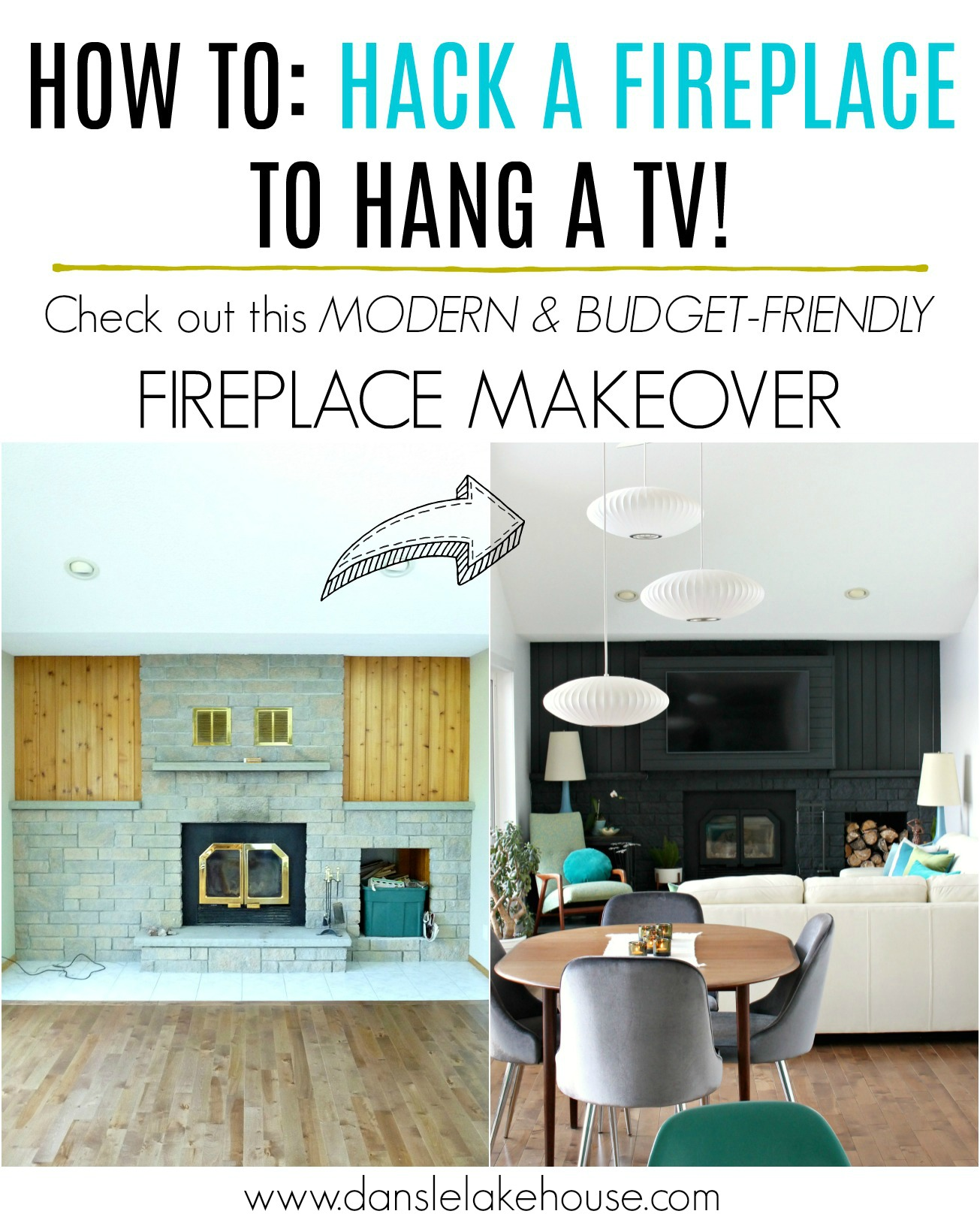How to Build a Fireplace Bump Out to Hang a TV | DIY Fireplace Hack #fireplace #renovating #TVabovefireplace