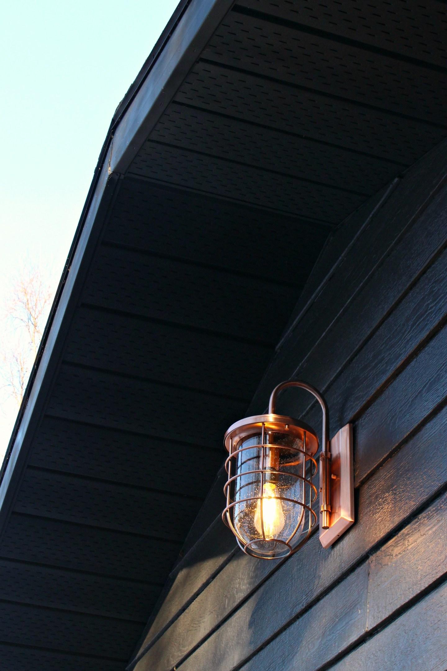 New Copper Outdoor Lights | Garage Makeover Before & After