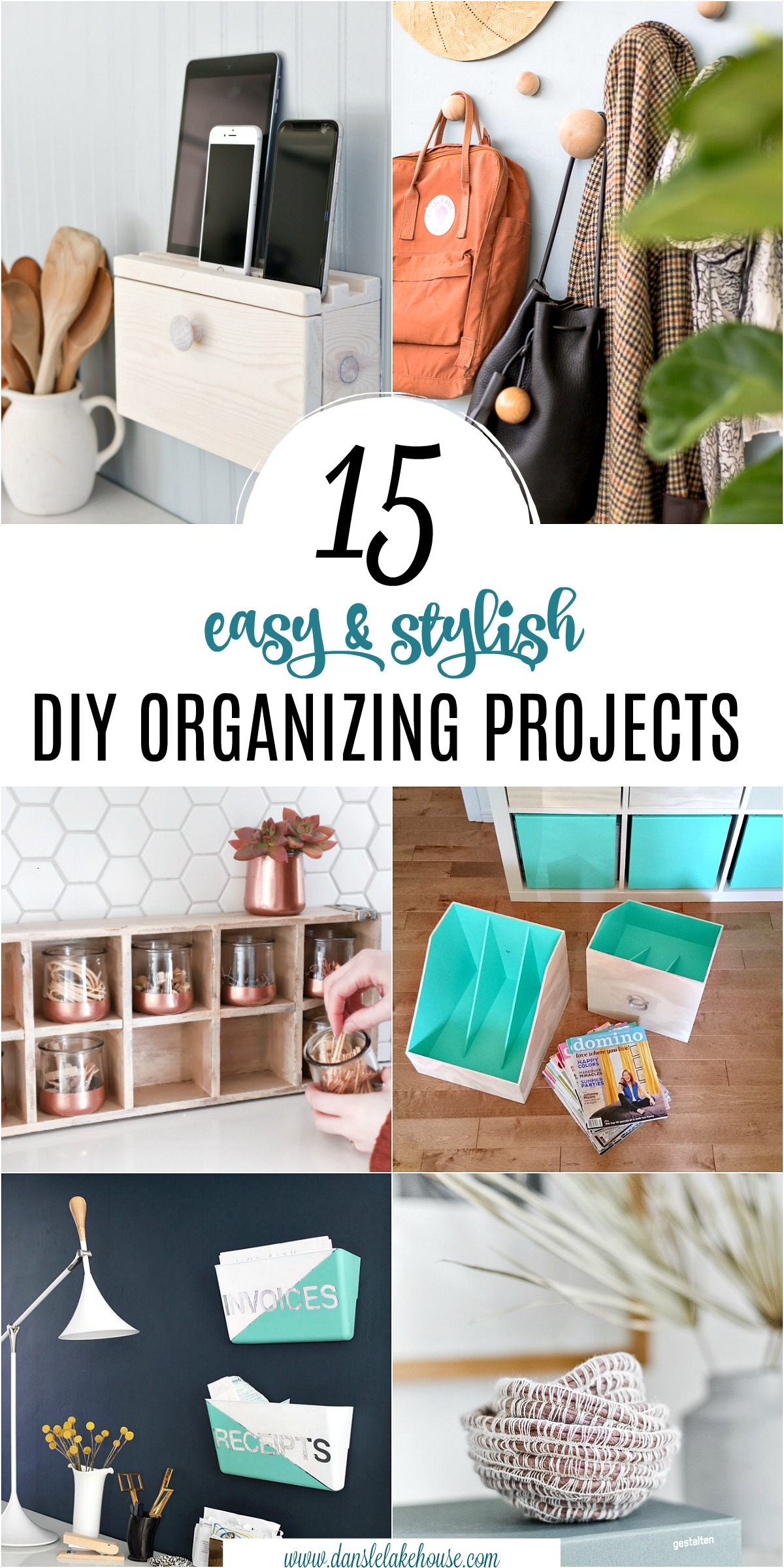15 Stylish DIY Projects for Organizing Your Home #organizing #diy #diyhome #clutterbustingtips