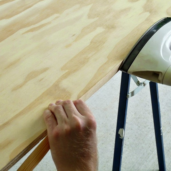 HOW TO AFFIX EDGE TAPE TO PLYWOOD