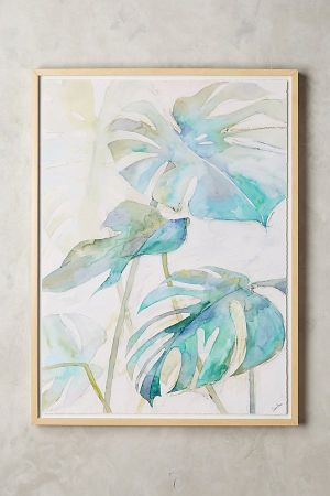 TURQUOISE TROPICAL ART