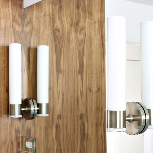 HOW TO MOUNT SCONCES ON MIRROR