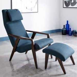 TEAL MCM STYLE CHAIR
