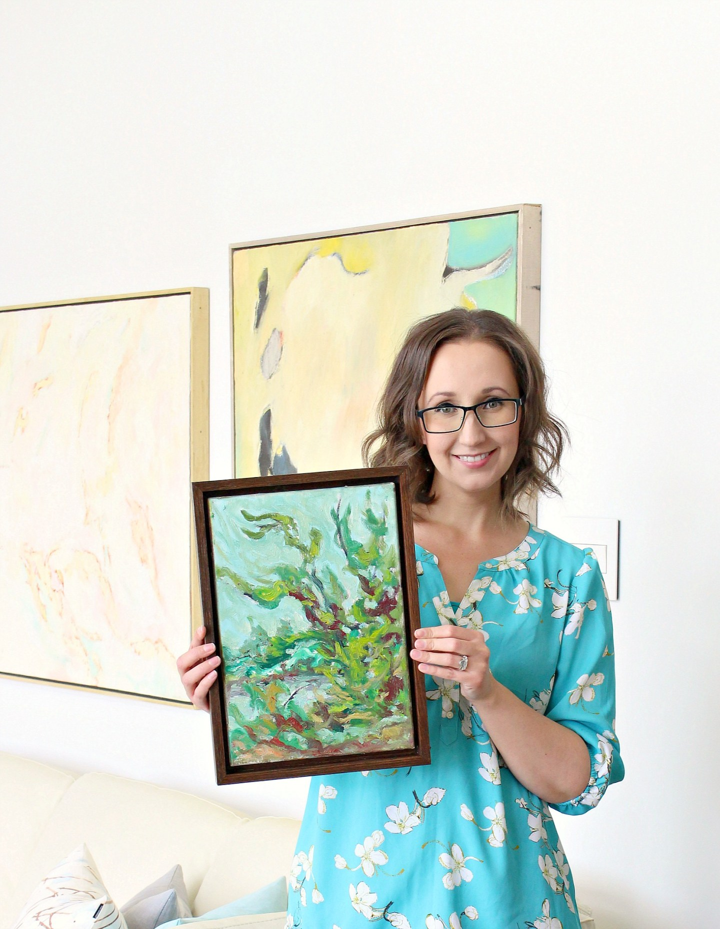 BUILD A FLOATING FRAME FOR CANVAS ART