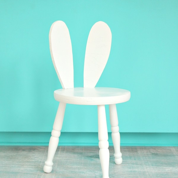 DIY BUNNY STOOL FURNITURE UPCYCLE