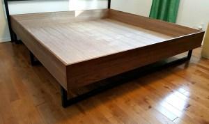 DIY WALNUT BED FRAME