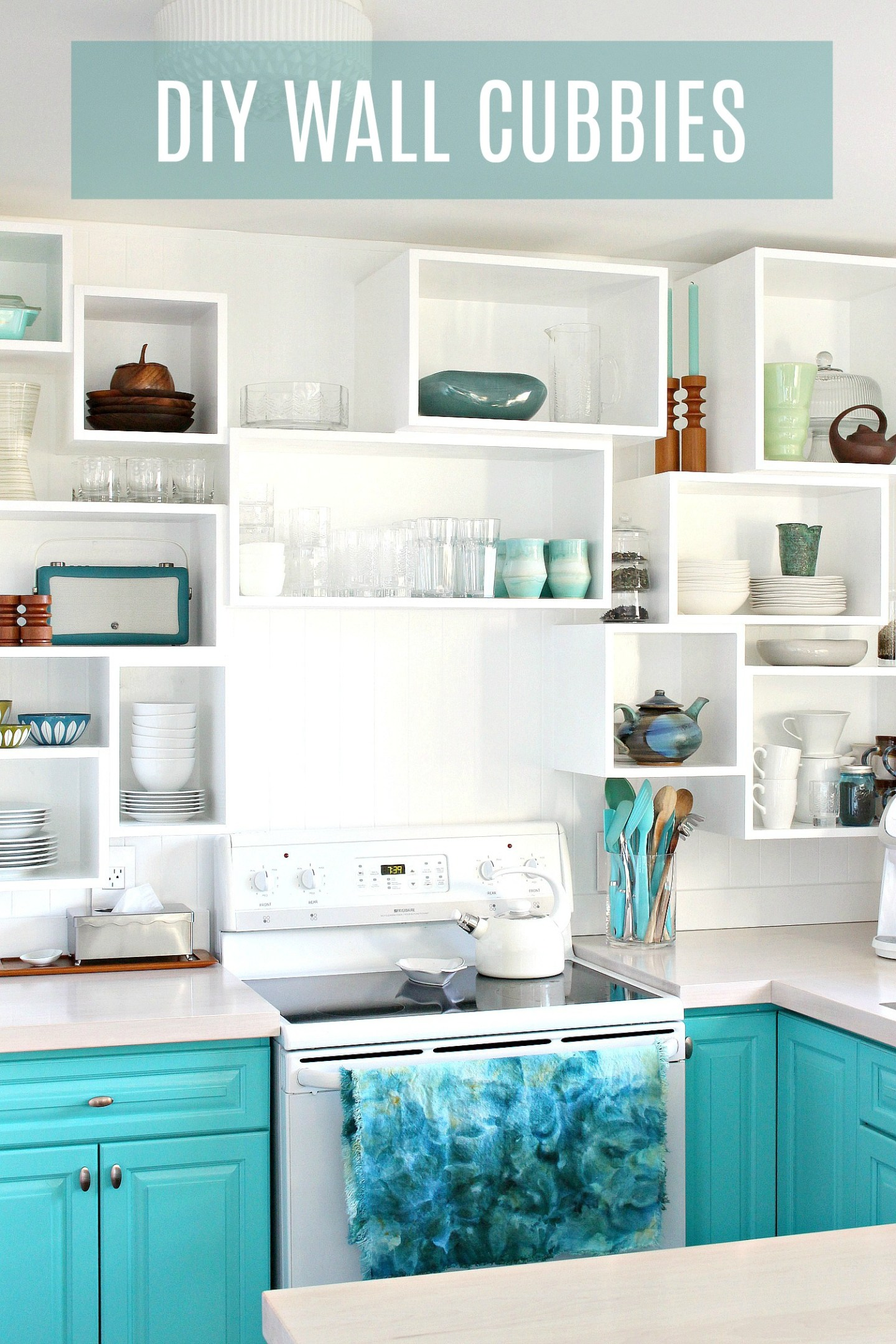 Learn how to build and install these DIY wall cubbies - a great way to add custom storage anywhere and a fun alternative to open shelving in the kitchen!