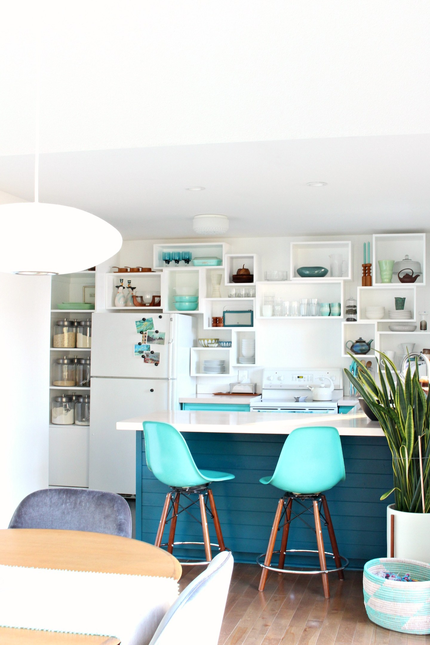 How to Build Wall Cubbies   Fresh Take on Kitchen Open Shelving. Teal Kitchen with Storage Cubbies DIY Instead of Open Shelving. #openshelving #diystorage #diyblog #diyhomedecor #diykitchen