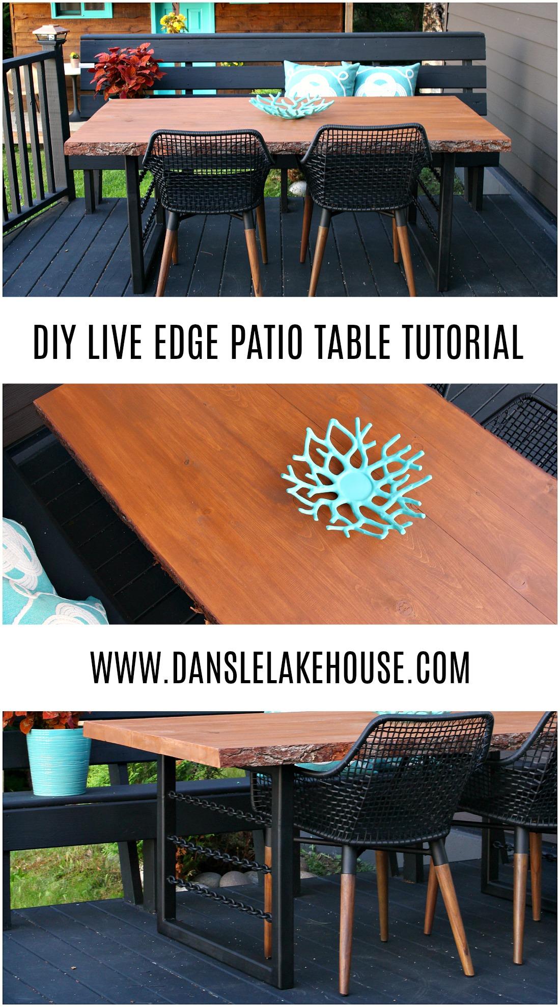 DIY Live Edge Patio Table Tutorial