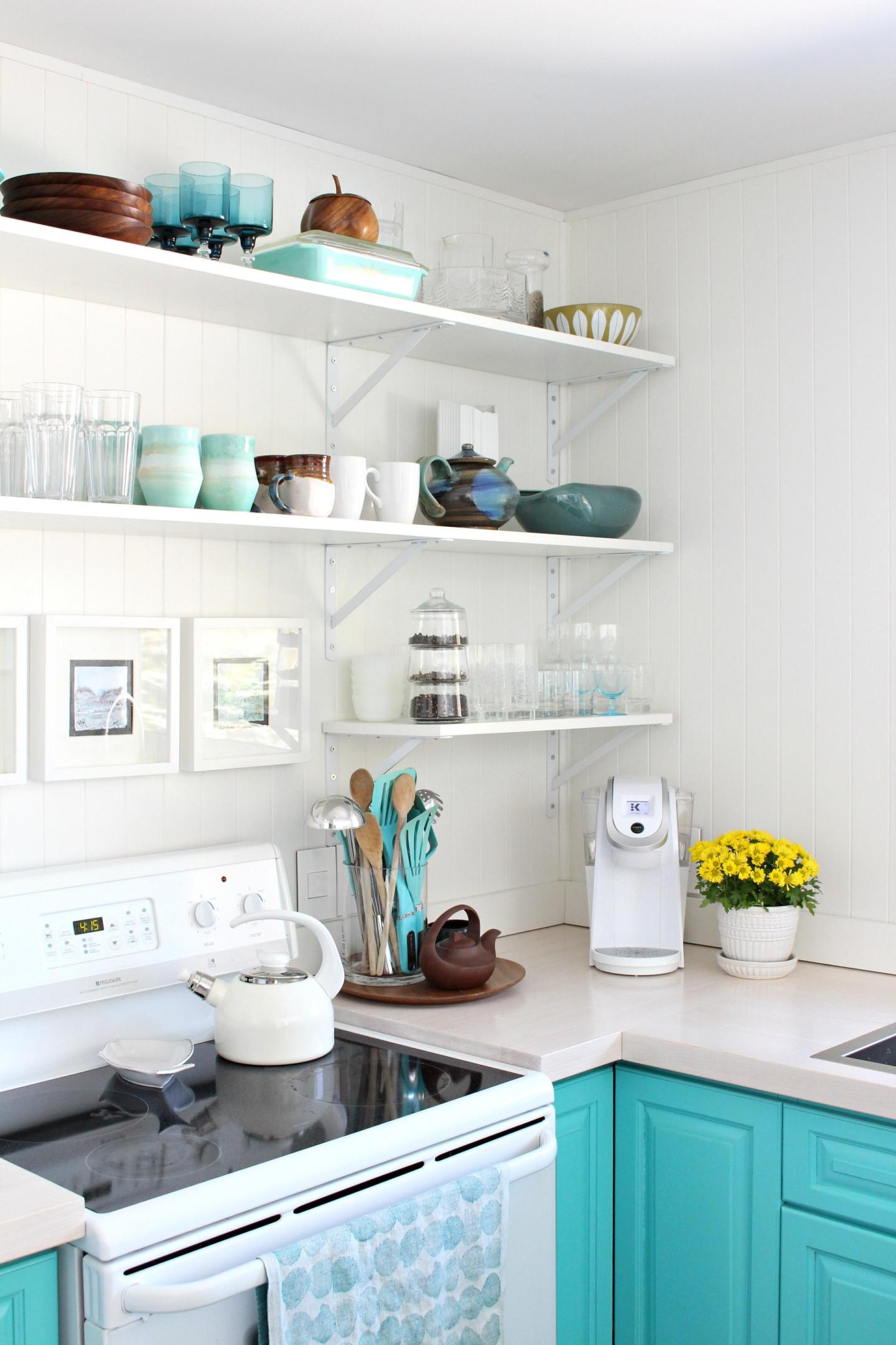 White Stained DIY Wood Countertops
