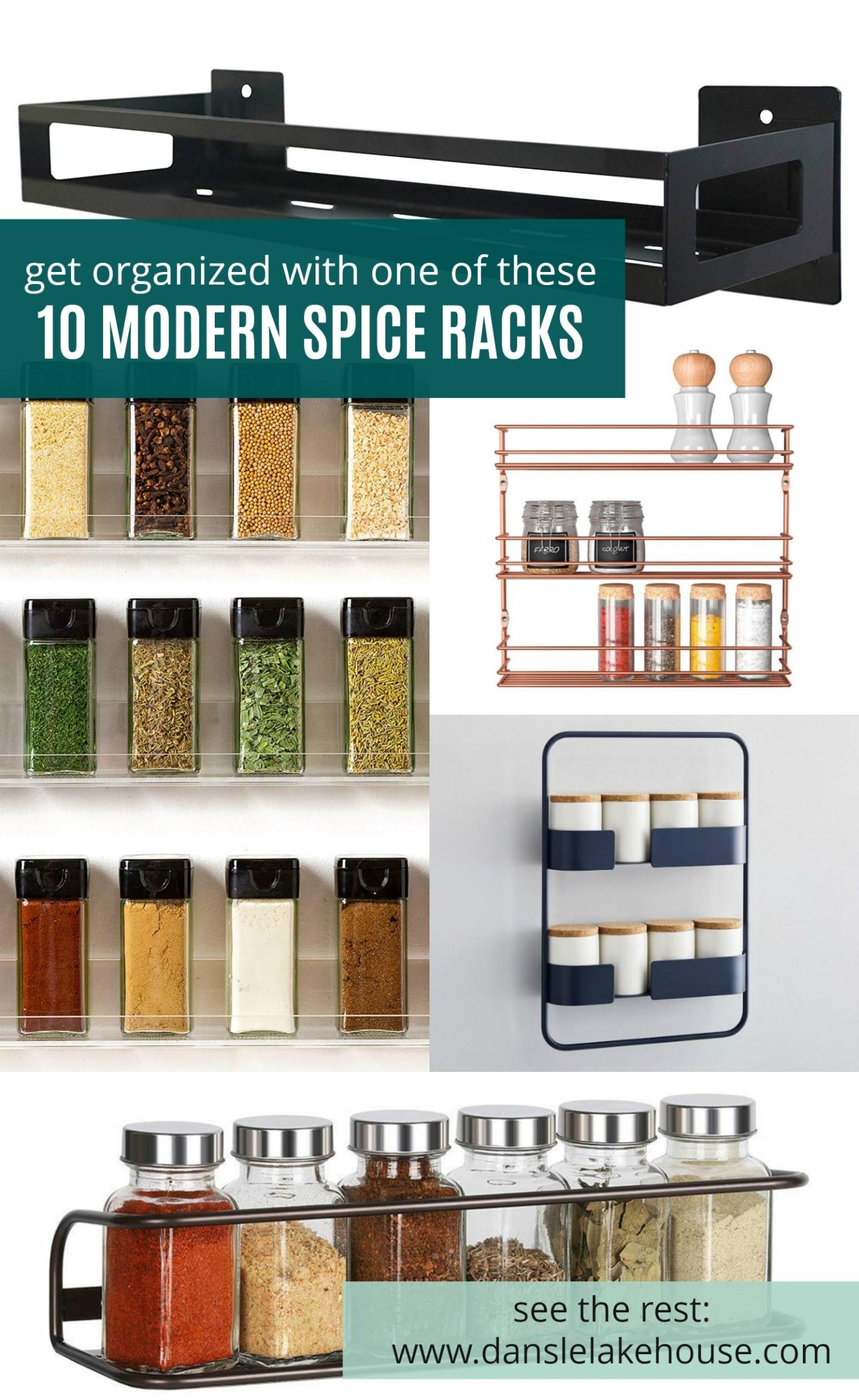 Modern Spice Rack Hack + 10 Modern Spice Storage Options
