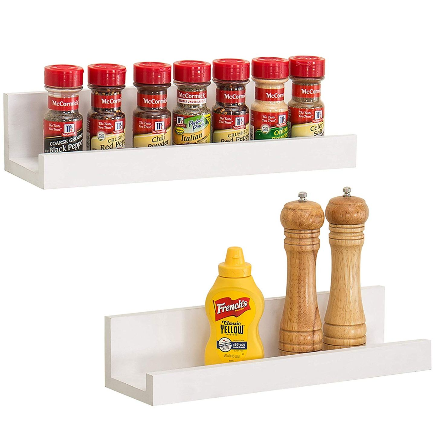 Simple White Ledge for Spice Storage