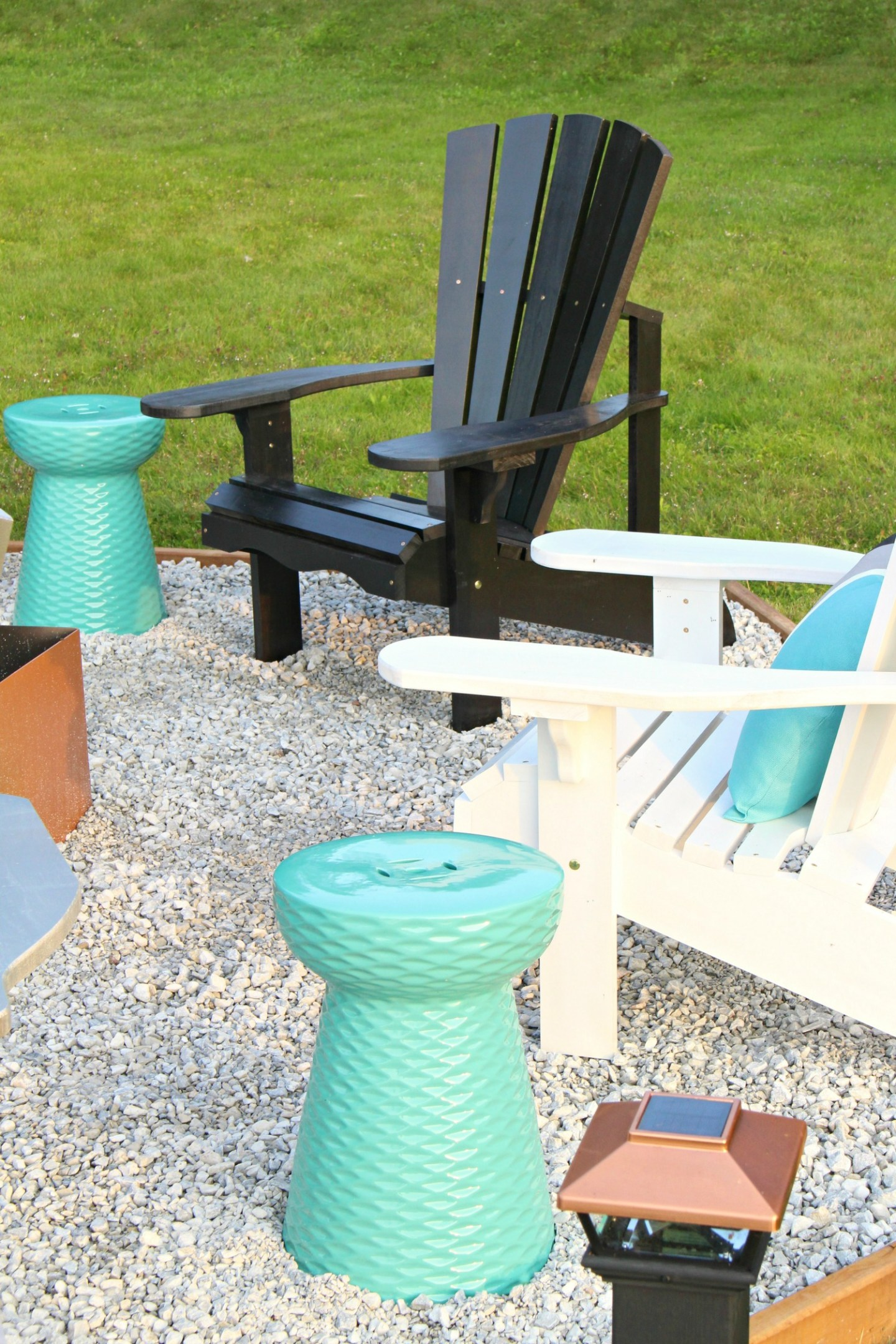 Coastal Fire Pit Makeover + DIY Ombre Adirondack Chairs (Sponsored by The Home Depot Canada)