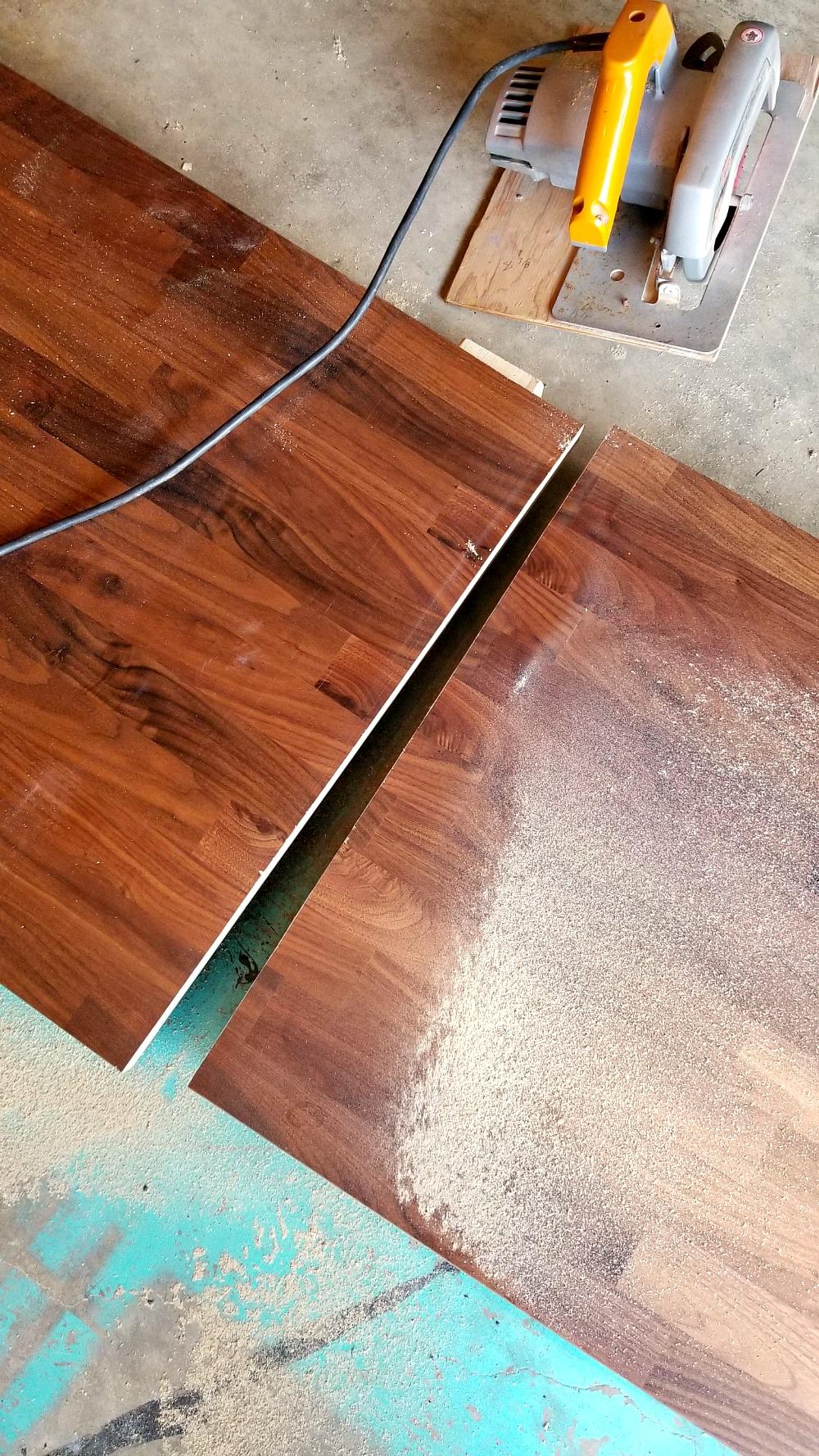 Cutting and Installing IKEA KARLBY Walnut Counter