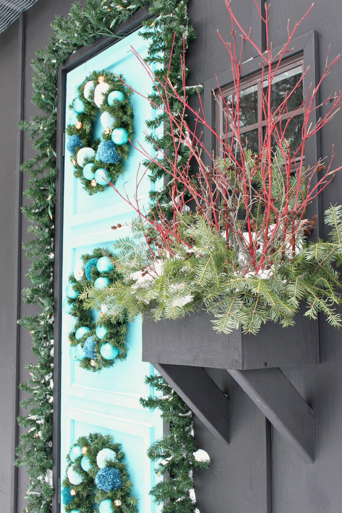 All Natural Winter Window Box Decorating
