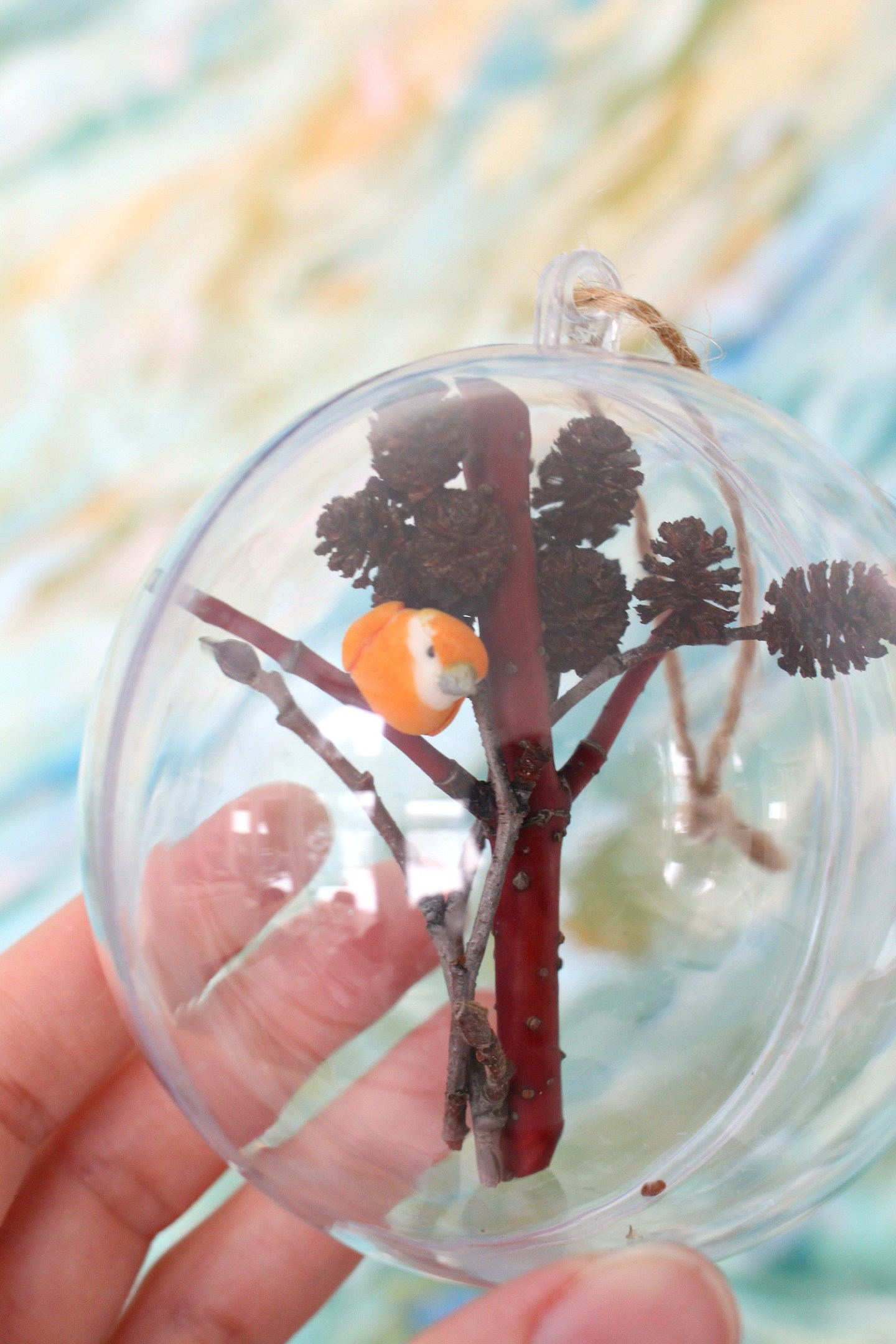 Foraged Fillable Ornament DIY