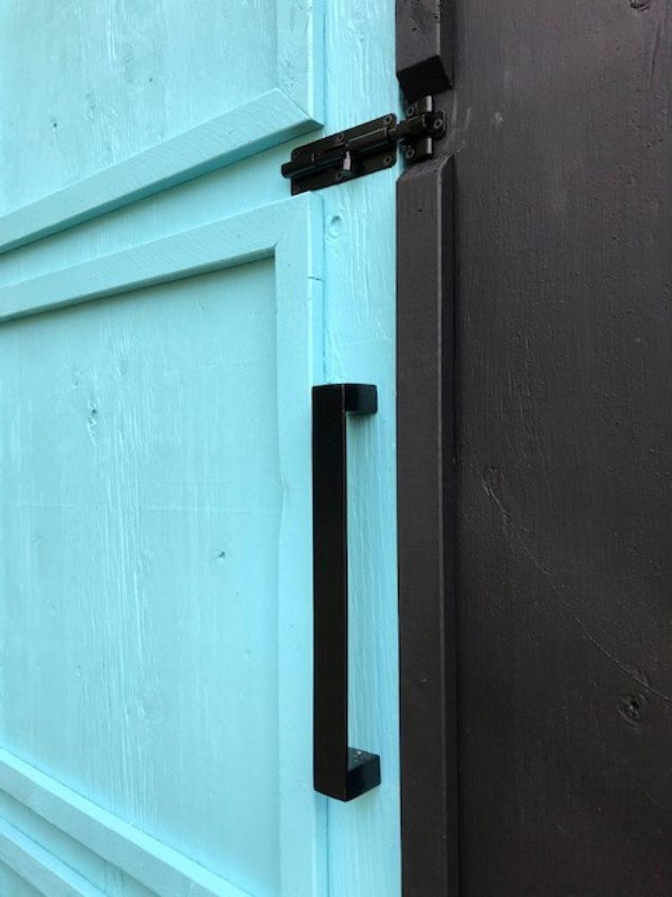 Modern Door Hardware for Chicken Coop