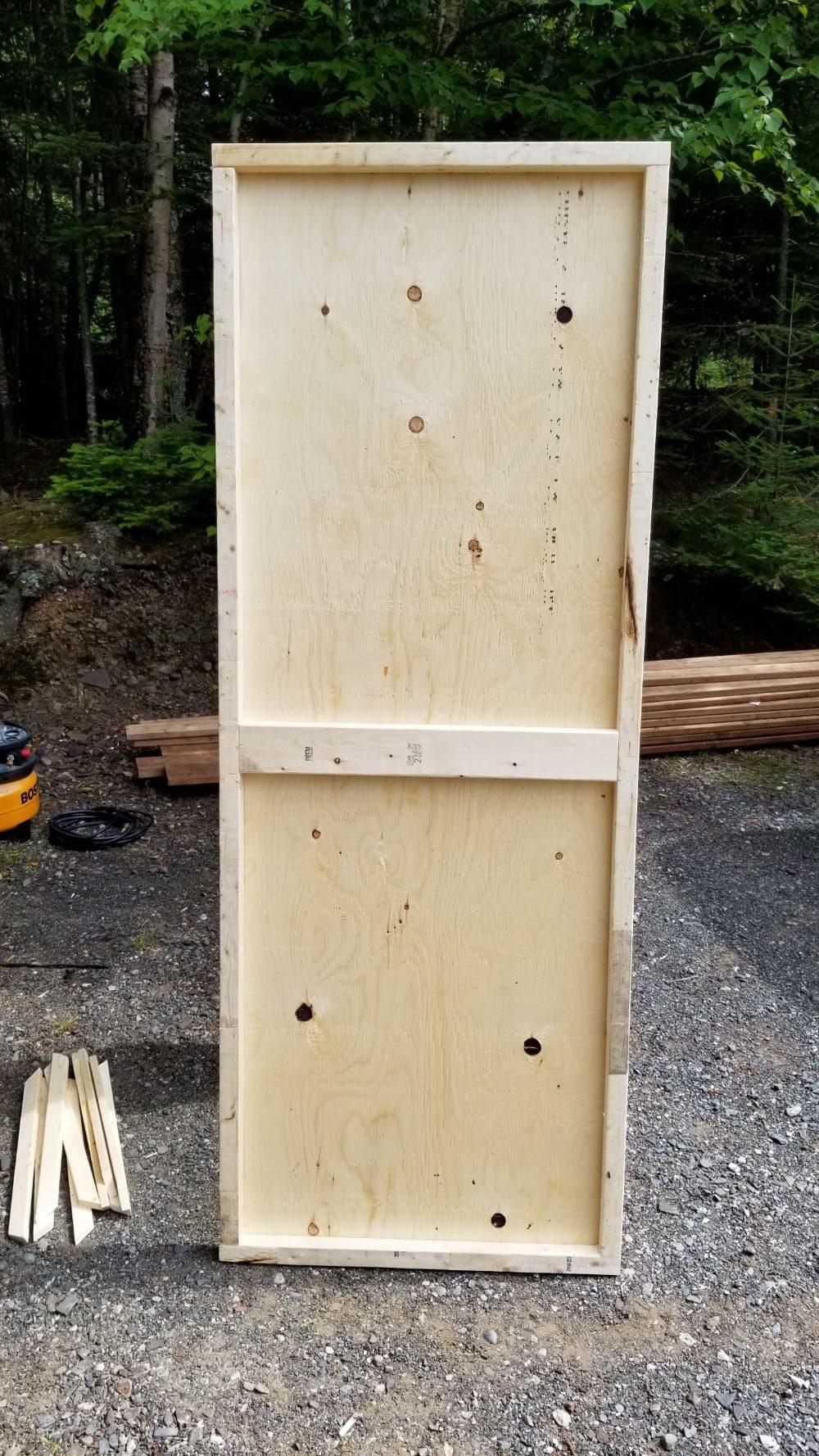 Easy DIY Plywood Door