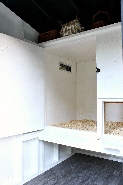 Urban Chicken Coop Design with Storage