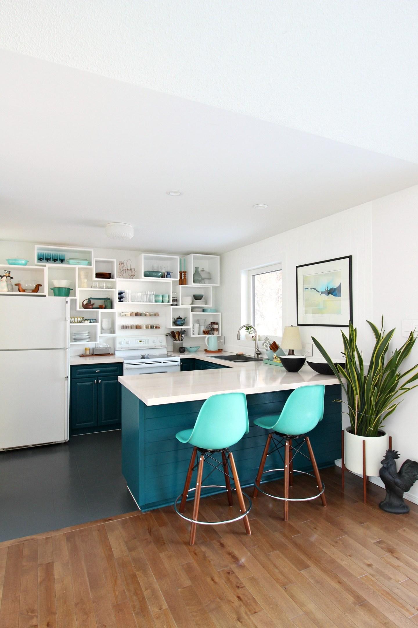 Behr Ocean Abyss Kitchen Cabinets
